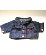 Denim Jean Jacket for Teddy Bear or Large Doll Silvertone Etched Buttons... - $23.00