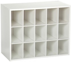 ClosetMaid 8983 Stackable 15 Cube Organizer, White - $44.10