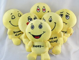 "6"" Emoji Plush Doll Toys w/6 Assorted Facial Expressions & Emotion Phrases - $6.81+"
