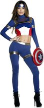 Fine Fighter Sexy Foreplay Captain America Comic Book Hero Deluxe Costume image 4