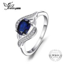 1.1ct Created Blue Sapphire Statement Ring 925 Sterling - €32,28 EUR