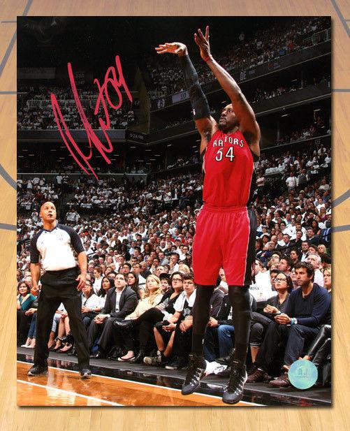 Patrick Patterson Toronto Raptors Autographed 3 Point Shot 8x10 Photo