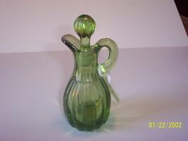 Imperial Glass Green Chrystolite Cruet - $19.80