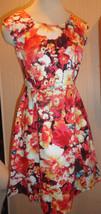 Ladies Liz Claiborne Orange Floral Sleeveless Dress Sizes 4, 8, 10, 14 - $19.99