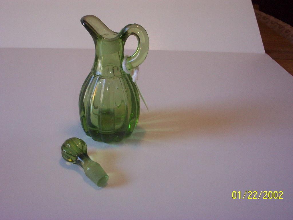 Imperial Glass Green Chrystolite Cruet