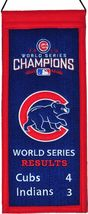 Chicago Cubs Officially Licensed 6x15 Embroidered Wool World Series Mini... - $24.95
