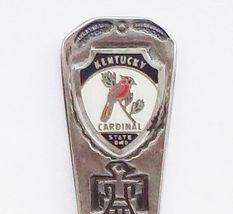 Collector Souvenir Spoon USA Kentucky Cardinal State Bird - $2.99