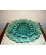 Fenton Glass Serving Tray~Plate Spruce Green - $34.99