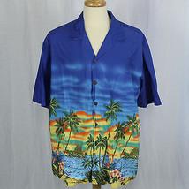 Hilo Hattie Hawaiian Original Men Palm Short Sleeve Shirt 100% Cotton Sz... - $23.38