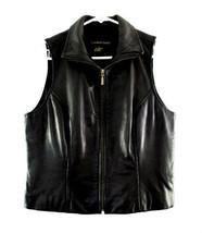 Classiques Entier Black Lamb Skin Leather Vest size S - $68.00
