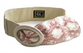 Falchi Chi Beige Snakeskin & Leather Belt size ML - $26.00