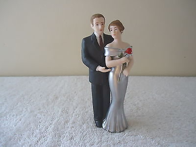 """Vintage 1993 Enesco Dressed Up Couple Figurine """" Wedding Topper ? """" GREAT COLLEC"""