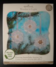 Hallmark Wonder and Light 2010 Glowing Snowflake Starter Set Magic Cord ... - $16.99
