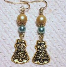 Sage Green Golden Glass Pearl Gold Filigree Chr... - $3.50