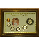 """5"""" X 7"""" """"Birth Year Coin Set"""" - PICTURE FRAME - SOLID OAK   - $11.95"""