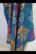 multicolor flower scarf by echo 100% silk - $49.99