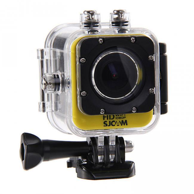 "sjcam m10 yellow 1.5"" screen 1080p 30fpswaterproof wifi mini action sport camera"
