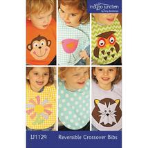 Indygo Junction Reversible Crossover Bibs Patte... - $12.75