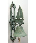 Cast Iron Wall Mount Large Sailboat Bell Indoor... - $24.74