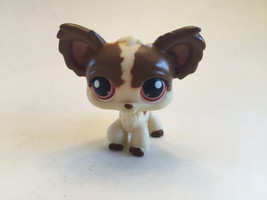 Littlest Pet ShopChihuahua Puppy Brown Cream Maroon Eyes - $17.32