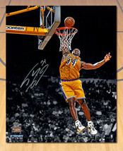 Shaquille O'Neal LA Lakers Autographed Slam Dunk 16x20 Photo: Steiner COA - $521.44