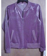 NWT Juicy Couture Jacket Glitter Mauve Zip Fron... - $24.75
