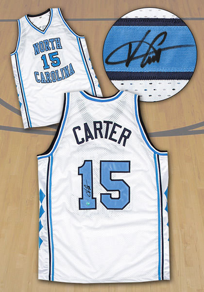 Vince Carter North Carolina Tarheels Autographed NCAA Basketball Jersey