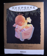 Hallmark Keepsake Christmas Ornament 1996 Baby's First Christmas Light a... - $15.99
