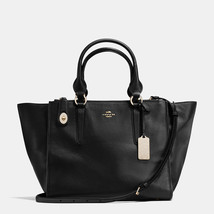CoachBlackPave Crosby Leather Zip Top Closure Fabric Lining Carryall/Sho... - $665.99