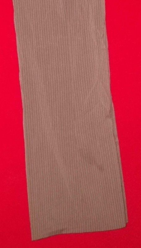 Larry Levine Stretch Dress Pants Brown Striped Flared Leg Polyester Size 8