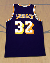 Magic Johnson Los Angeles Lakers Autographed Custom Basketball Jersey - $409.71