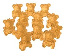 "36 Mini Crystal Like Transparent Baby Shower Bears 7/8"" tall - Yellow - $3.42"