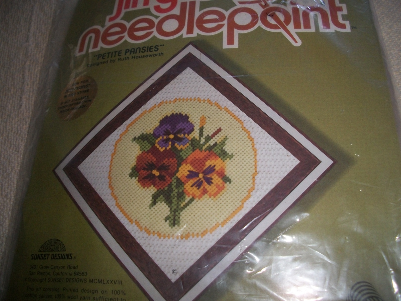 Petite Pansies Needlepoint Kit - $20.00