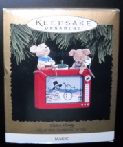 Hallmark Keepsake Christmas Ornament 1996 Video Party Light Changing Sce... - $18.99