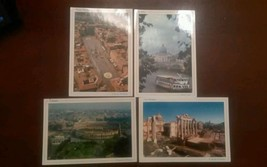 Set of 4 Vintage Postcards by Il fascino di Roma - $7.25