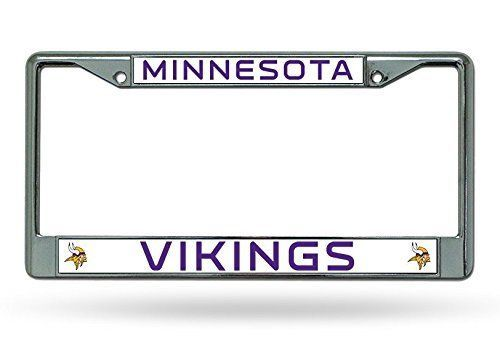 MINNESOTA VIKINGS CAR AUTO CHROME METAL LICENSE PLATE TAG FRAME NFL FOOTBALL