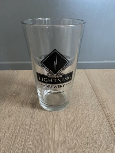 Primary image for Lightning Brewery Co Pint Glass craft beer Micro Brewery Poway California