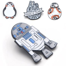 Millennium Falcon Porgs BB-8 R2D2 Star Wars Enamel Pin Metal Brooch Gift for Fan - $4.00