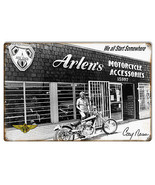 Arlen Ness Motorcycles And Accessories Shop Sign 12X18 - $26.73