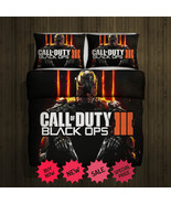 Call Of Duty Black Ops Blanket Large & 2 Pillow Cases #93242309 ,9324231... - $83.00