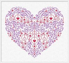 Elogio D'Amore (AAN184) cross stitch chart Alessandra Adelaide Needlework - $15.30