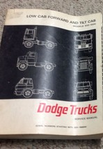 1967 DODGE TRUCK Low Cab Forward & Tilt Cab Models 500 1000 Service Shop Manual - $28.72