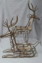 Reindeer Metal Sculptures - Set of 2 - $39.00