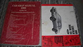 1989 Lincoln Mark Vii 7 Service Shop Repair Manual Set W Ewd + Pced + Specs Bk X - $227.69