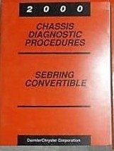2000 CHRYSLER SEBRING CONVERTIBLE CHASSIS Shop Service Manual DIAGNOSTIC... - $28.58