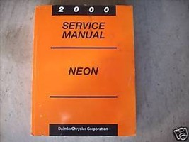 2000 Dodge Mopar Neon Service Repair Shop Workshop Manual OEM 2000 - $34.60