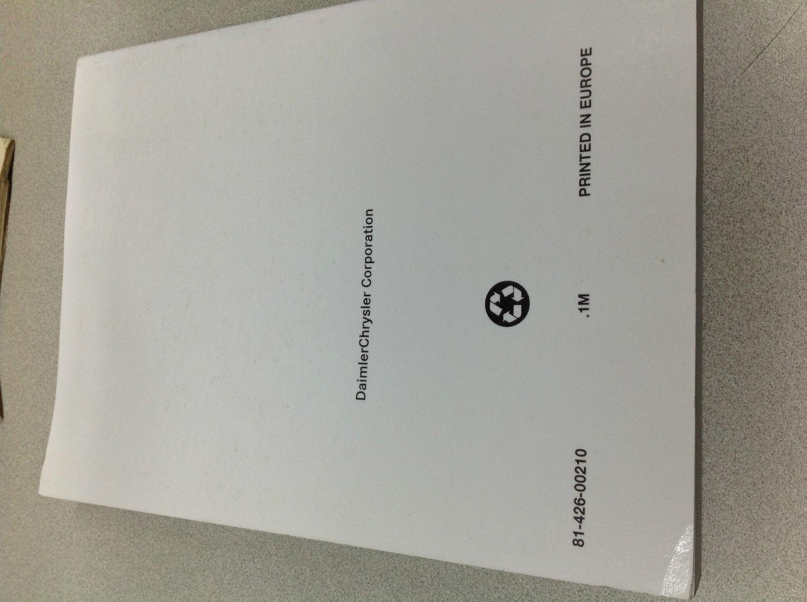 2000 Chrysler Dodge Stratus Shop Service Repair Manual SUPPLEMENT OEM MOPAR