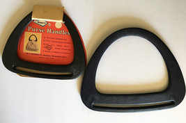 2 Vintage Pairs of Purse Handles for Sewing Crafts • Rogers • Black & Na... - $15.79