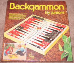 BACKGAMMON FOR JUNIORS GAME 1976 CADACO #535 MADE IN HONG KONG COMPLETE ... - $10.00