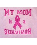 Awareness Ribbon Hoodie S My Mom Is A Survivor Pink Girls Sweatshirt Uni... - $28.10